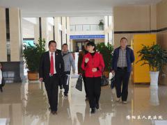 隆阳区人大常委会杨艳梅主任一行 莅临我院调研指导工作